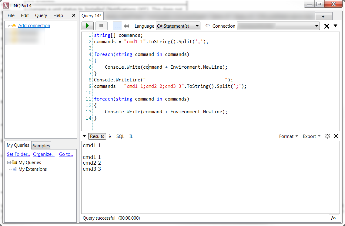 LINQPad  - C# Scratchpad Demo