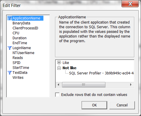 Filter Application Name
