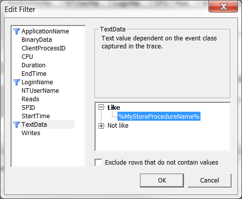 Filter Text Data
